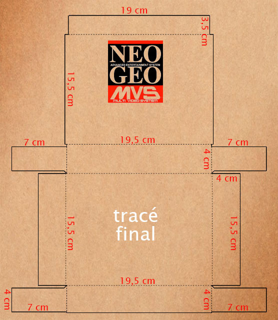 Faire ses propres boîtes cartons NEO GEO MVS Tracc3a9-final-1