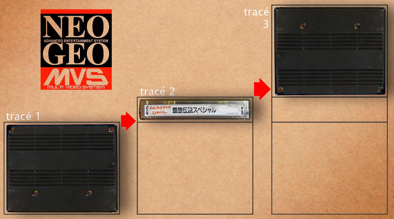 Faire ses propres boîtes cartons NEO GEO MVS Tracc3a9s